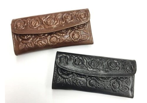 Intricate Leather Tri-fold Wallet
