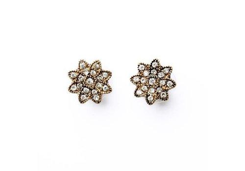 Antique Crystal Flower Earrings