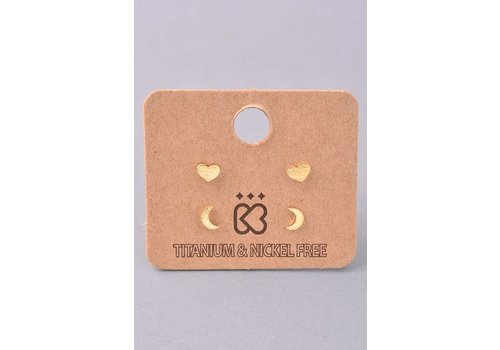 Love You to the Moon & Back Earring Set
