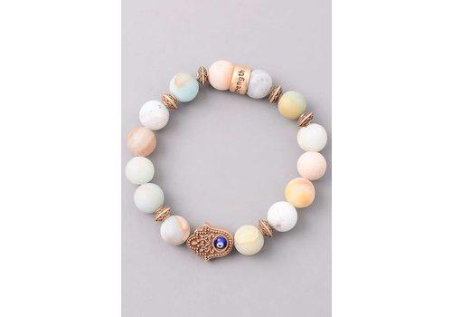 Natural Stone Hamsa Bracelets