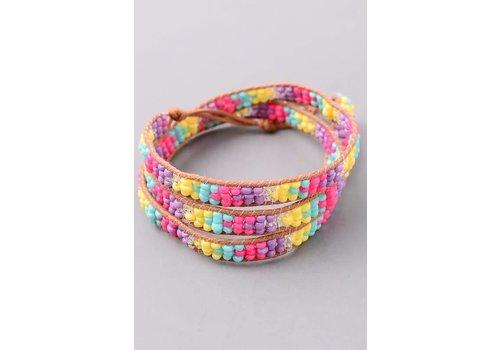 Spring Beaded Wrap Bracelet