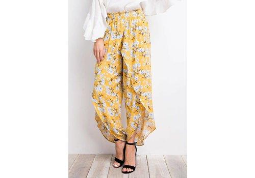 Floral & Mustard Tulip Pants