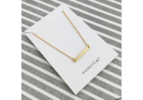 24k Classic Gold Plated Bar Necklace