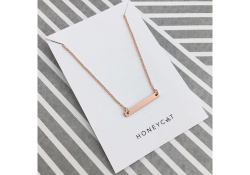 18k Rose Gold Classic Bar Necklace