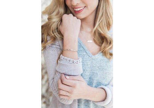 Rhodium Plated Skinny Cuff Bracelets