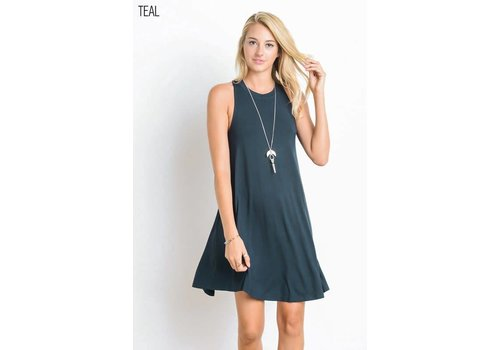 Best Seller- Pocket Tank Swing Dress in 3 Color Choices
