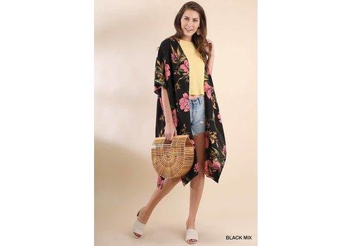 Long Floral Print Kimono & Beach Coverups -2 Color Options