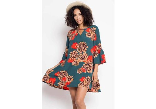 Go With the Flow Bohemian Floral Dress (S-3X)
