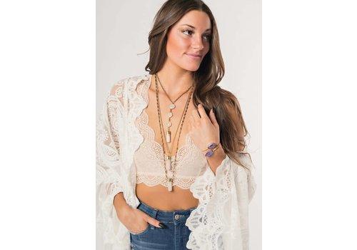 Layered Rose Quartz Necklace
