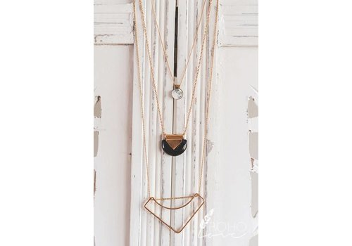 Modern Marble Tiered Necklace