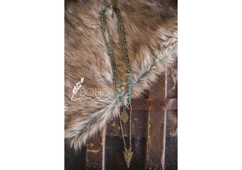 Tiered Jade & Arrowhead Necklace