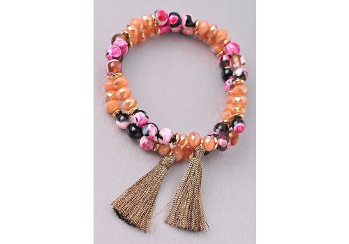 Semi Precious & Mix Bead Bracelets- 3 Color Options