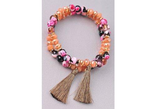Semi Precious & Mix Bead Bracelets- 3 Color Options