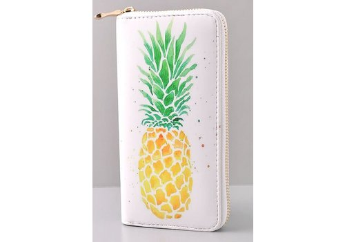 Watercolor Pineapple Wallet