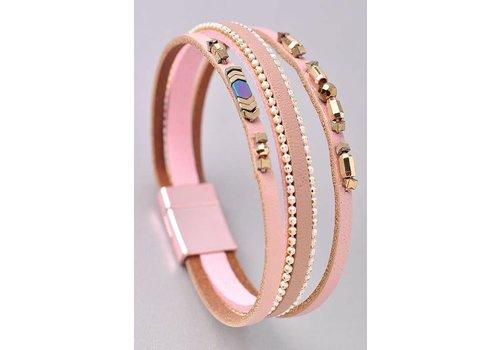 Split Beaded Wrap Bracelets- 4 Color Choices