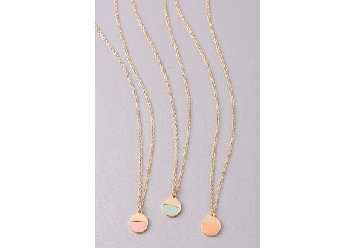 Dainty Geometric Sphere Necklaces-3 Color Choices