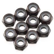 Axial AXA1052 - Axial Thin Nylon Locking Hex Nut M3 Black (10)