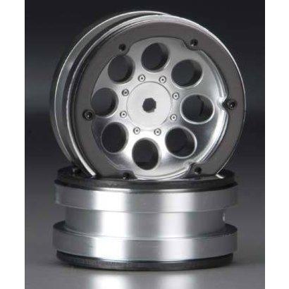 "Axial AX8088 - Axial  8-Hole 1.9"" Beadlock Wheel Satin Chrome (2) SCX10"