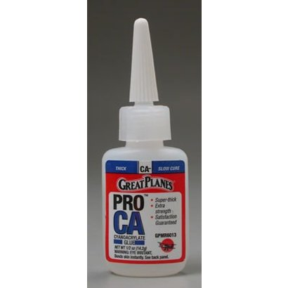 Great Planes GPMR6013 - Great Planes Pro CA Glue .5 oz Thick