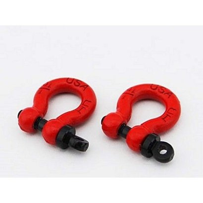 Hot Racing ACC808X02 - Hot Racing 1:10 Scale Look Red Tow Shackles (2)