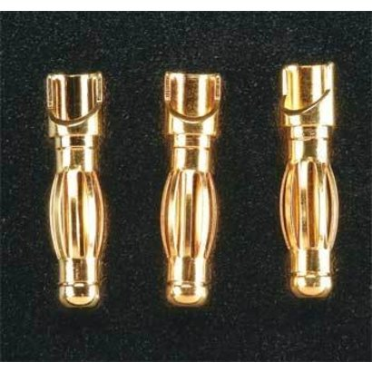 Great Planes GPMM3114 - Great Planes Gold Plated Bullet Connector Male 4mm (3)