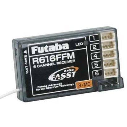 Futaba FUTL7626 - Futaba  R616FFM 2.4GHz FASST Micro Park Flyer Rx 6Ch