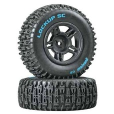 Duratrax DTXC3671 - Duratrax Lock Up Rear Tire Rim Combo Slash