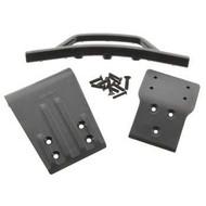 RPM R/C Products RPM80022 - RPM Products Front Bumper & Skid Plate Black Slash 4x4