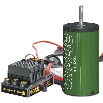 Castle Creations CSE010-0139-00 - Castle Creations 1:8 Sidewinder 8th ESC + 2200kV Motor