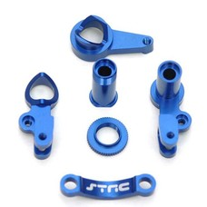 ST Racing Concepts ST6845B - STRC Machined Aluminum HD Steering Bellcrank Blue Traxxas Slash 4x4
