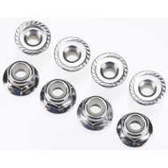 Traxxas TRA3647 - Traxxas Nuts 4mm Nylon Locking VXL (8)