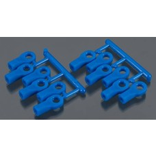 RPM R/C Products RPM80475 - RPM Products Traxxas Rod Ends Short Blue
