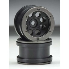 Axial AX8097 - Axial 2.2 8-Hole Beadlock Black (2)