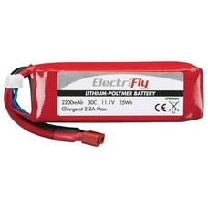 Great Planes GPMP0861 - Great Planes Electrifly 2200 30c 11.1 Volt Lipo