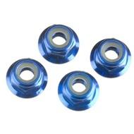 Traxxas TRA1747R - Traxxas Nuts 4mm Flanged Nylon Locking (4)