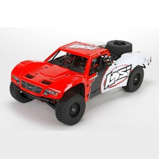 Losi LOS03008T1 - Losi 1/10 Baja Rey 4WD RTR Desert Truck with AVC, Red