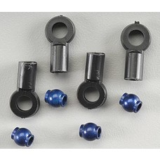 Team Associated ASC1777 - Team Associated Aluminum Shock Ball End Blue (4)