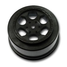 DE RACING DER-SCT-10B - DE Racing Trinidad SC Wheels Losi TEN-SCTE/22SCT Black