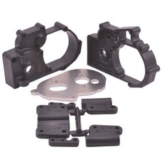 RPM R/C Products RPM73612 - RPM Products Black Gearbox Housing and Rear Mounts for Traxxas 2wd Vehicles