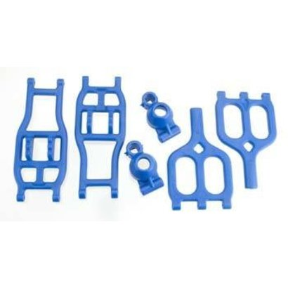 RPM R/C Products RPM80945 - RPM Products Rear True-Track A-Arm Conversion Blue E-Maxx