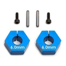 Team Associated Associated Clamping Wheel Hex 6.0mm Blue - asc71034