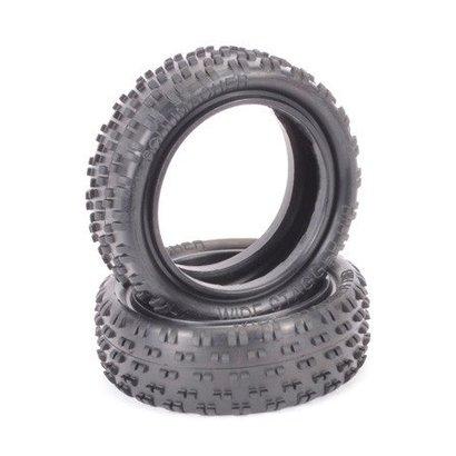 Schumacher U6846 - Schumacher Wide Stagger Rib 1/10 Tire (Blue)