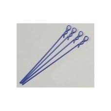 Team Associated ASC1735 - Associated Body Clips Metallic Blue Long (4)