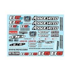 Team Associated ASC91614 - Team Associated Series Decal Sheet B5/B5M/B5M-FL