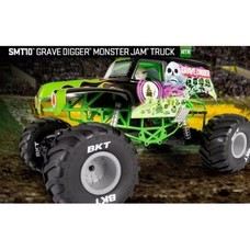 Axial AX90055 - Axial 1/10 SMT10 Grave Digger Monster Jam Truck 4WD RTR