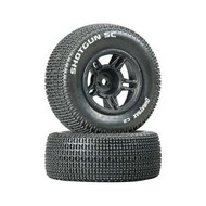 Duratrax DTXC3686 - Duratrax BanditoShotgun SC Tire C2 Mntd Black Slash Front (2)