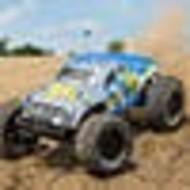 ECX ECX03331T1 - ECX 1/10 Ruckus 2wd Monster Truck, Brushed, Lipo, RTR, Silver/Blue
