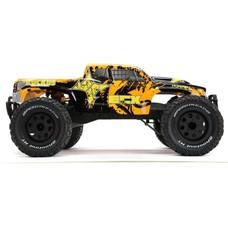 ECX ECX03331T2 -  ECX 1/10 Ruckus 2WD Monster Truck, Brushed, LiPo, RTR, Black/Orange