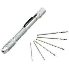 Hobbico HCAR0696 - Hobbico Drill Pin Vise 1/16 Collet w/6 Bits