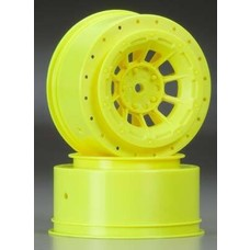 JConcepts JCO3351Y - JConcepts Hazard Slash Rear/4x4 Wheel Yellow (2)